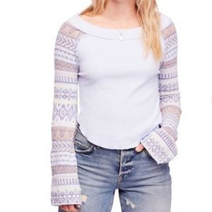 FREE PEOPLE Fairground Thermal Sweater size large